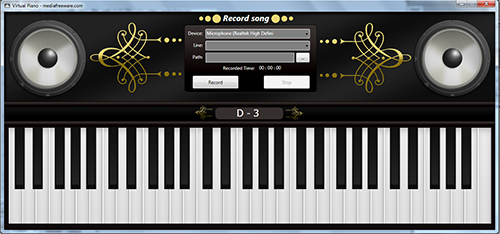 Descargar gratis Virtual Piano: Application that turns any windows