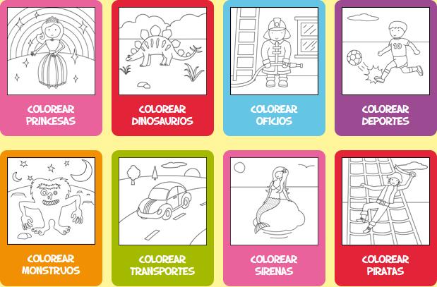 Dibujos Para Colorear Y Pintar Mejores Webs Gratis