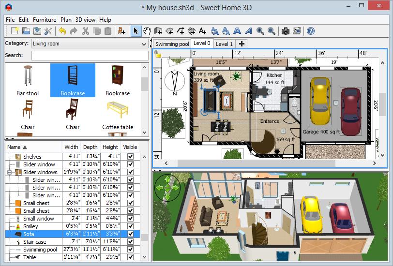 Descargar gratis sweet home 3d una aplicaci n gratis de for Programa de diseno de muebles en 3d