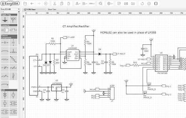 Descargar gratis EasyEDA: Do circuit simulation, PCB design