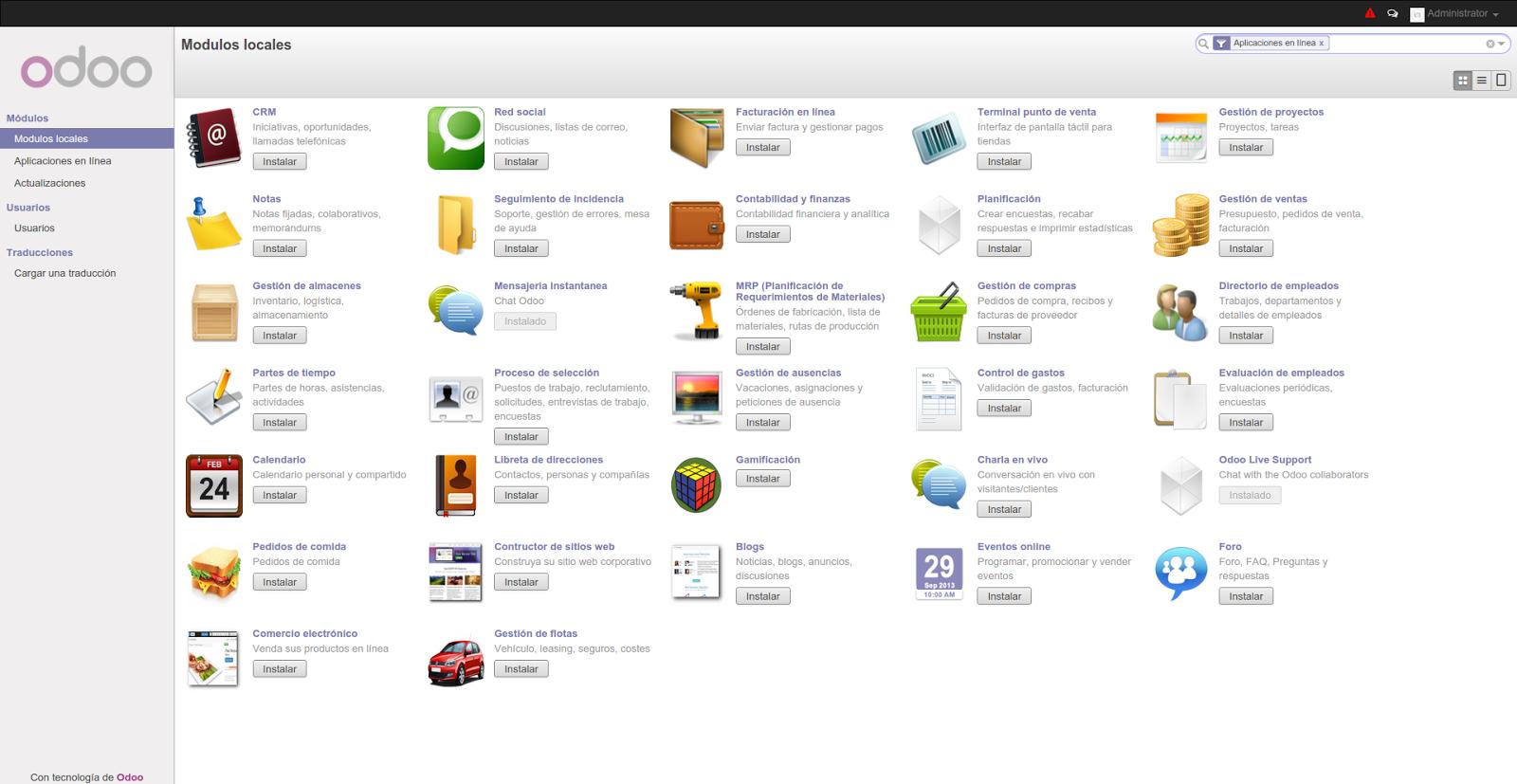Descargar Gratis Odoo Software De Gestión Erp Y Crm Libre